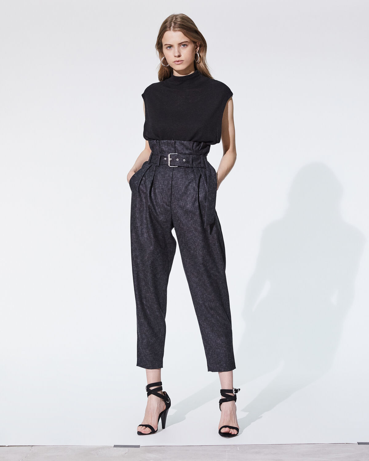 IRO PLUTON TROUSERS,ANTHRACITE