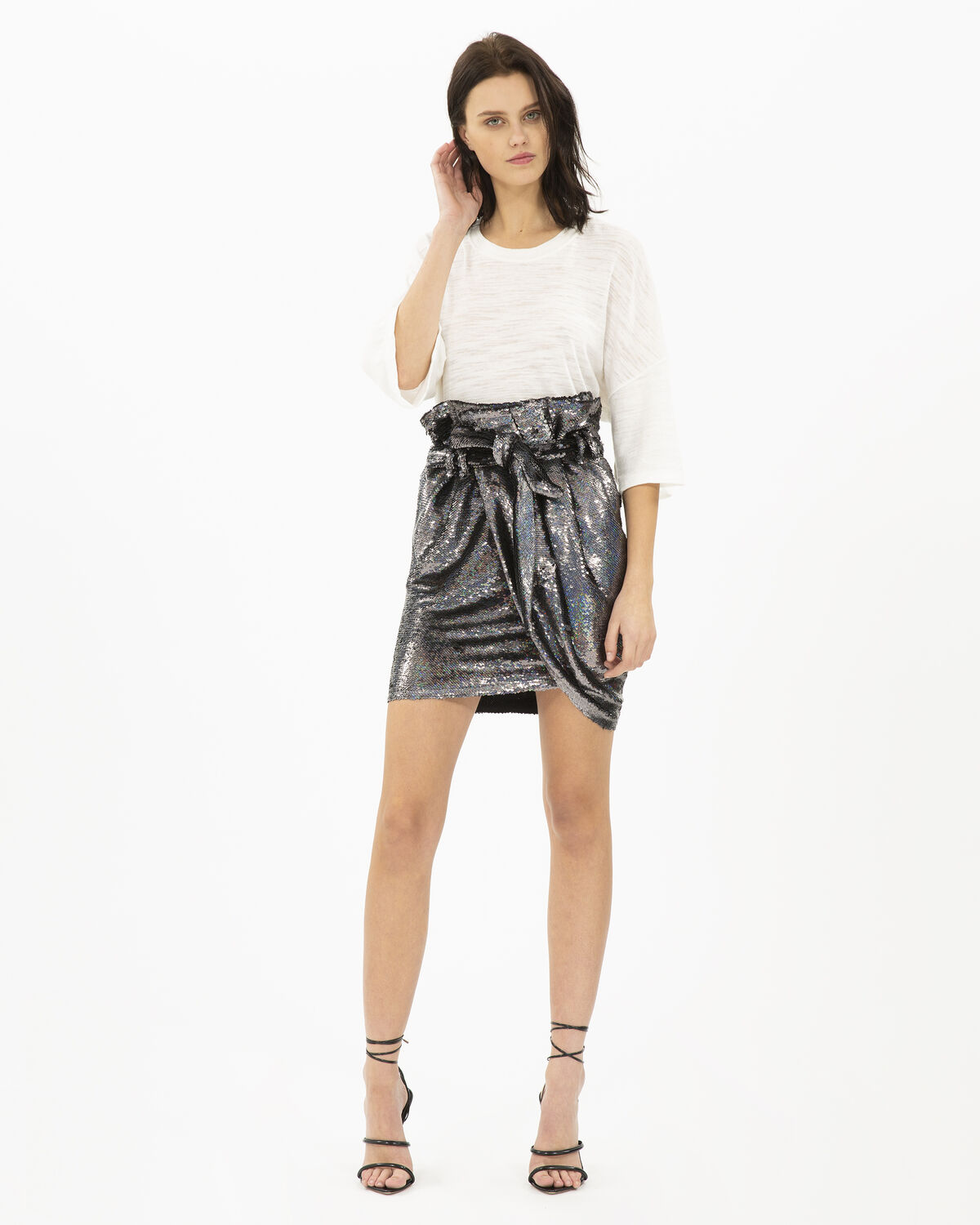 IRO MAHONT SKIRT,BLACK