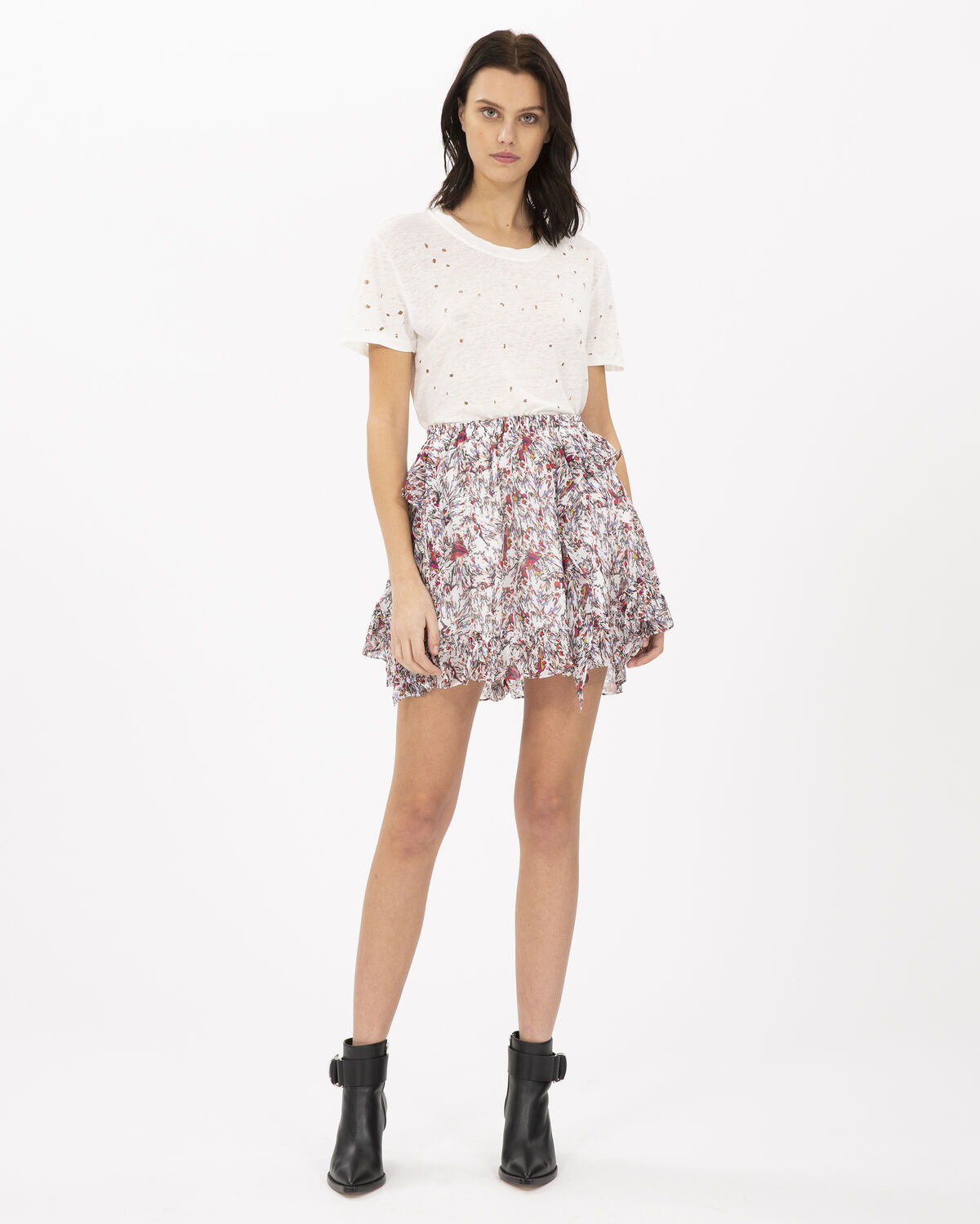 IRO TIDE SKIRT,ECRU