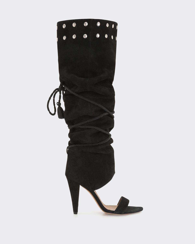 IRO LOTTA BOOTS,BLACK