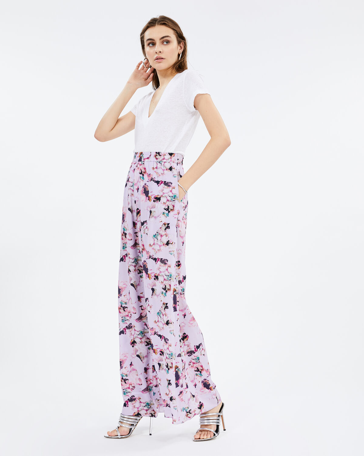 IRO TANY PANTS,LIGHT PURPLE