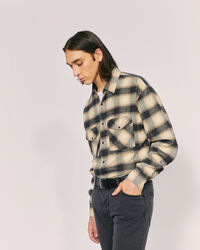 IRO - CREED PLAID FLANNEL SHIRT BEIGE/BLACK