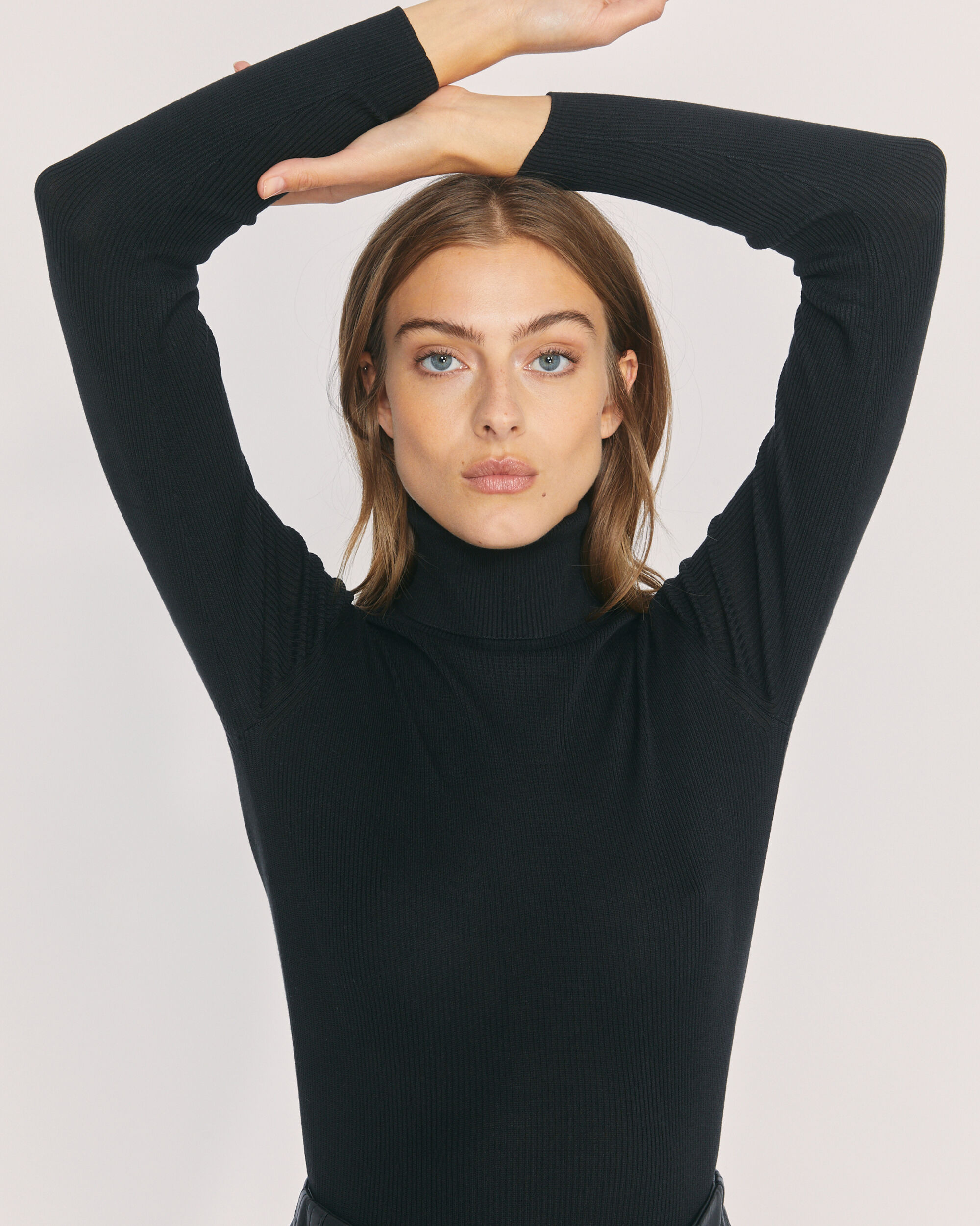 IRO KELLA SWEATER,BLACK