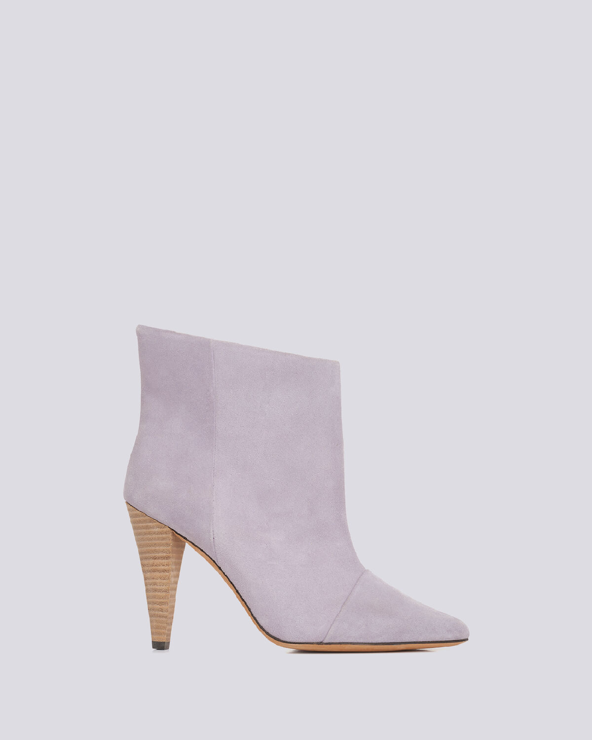 IRO - IMANOL POINTED TOE ANKLE SUEDE BOOTS GLYCINE