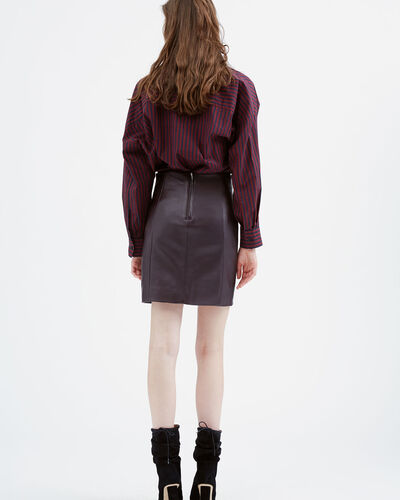 IRO - CAMILLE SHIRT BLACK/BURGUNDY
