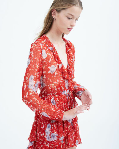 IRO - ROBE VILIA RED/GREY