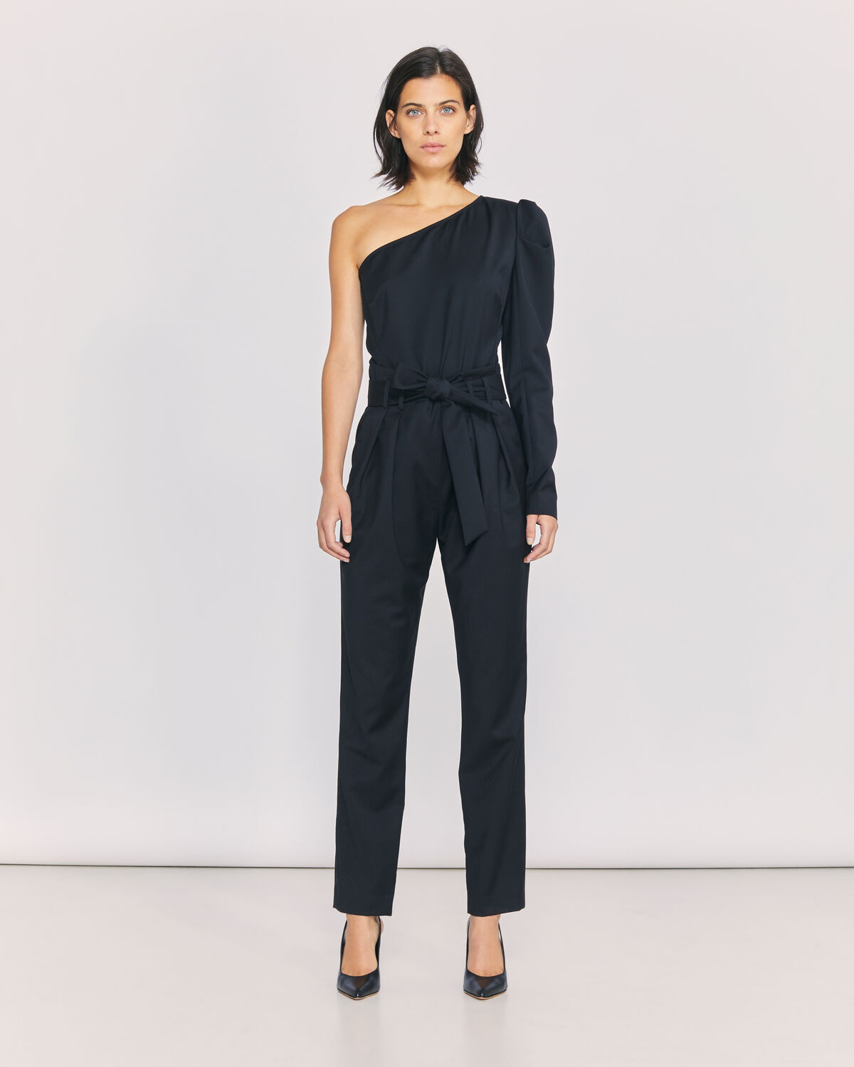 IRO - HARABEL ONE SHOULDER JUMPSUIT BLACK