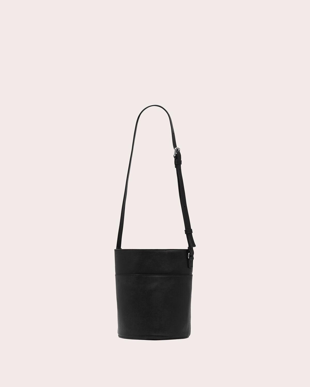IRO - MAYON MINI SOFT LEATHER BUCKET BAG BLACK