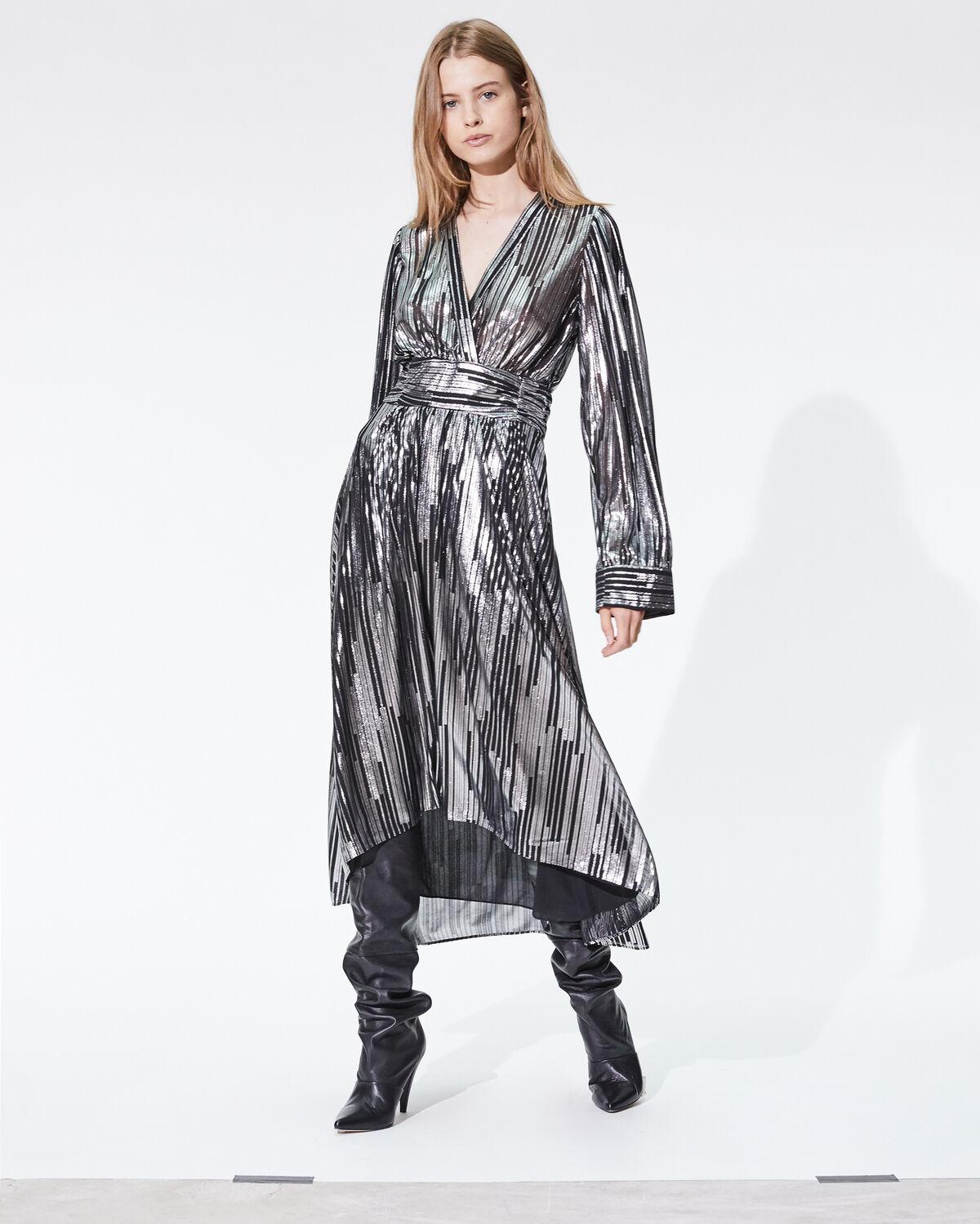 IRO - EUREKA DRESS BLACK/SILVER