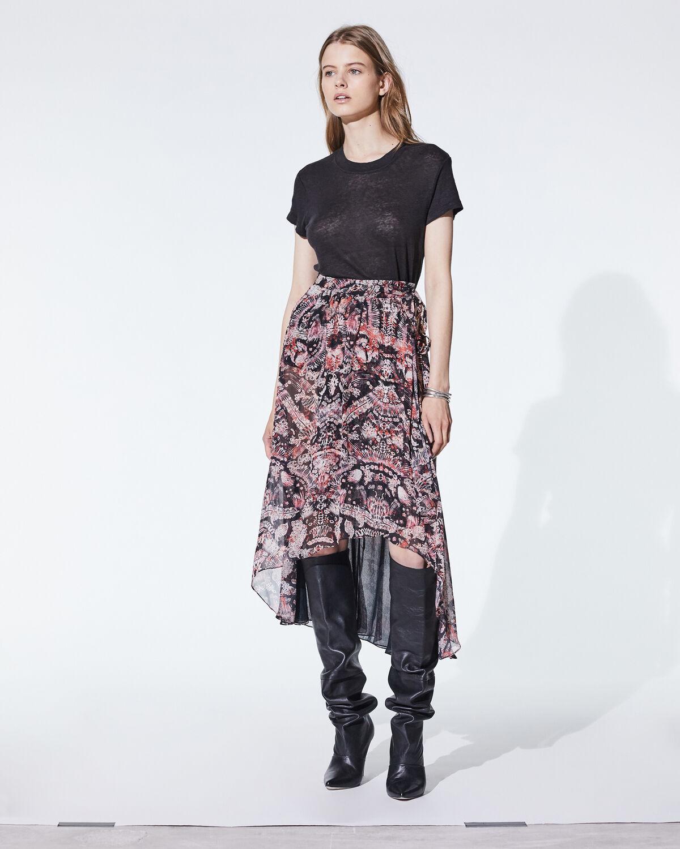 Deroie Skirt Black And Red by IRO Paris