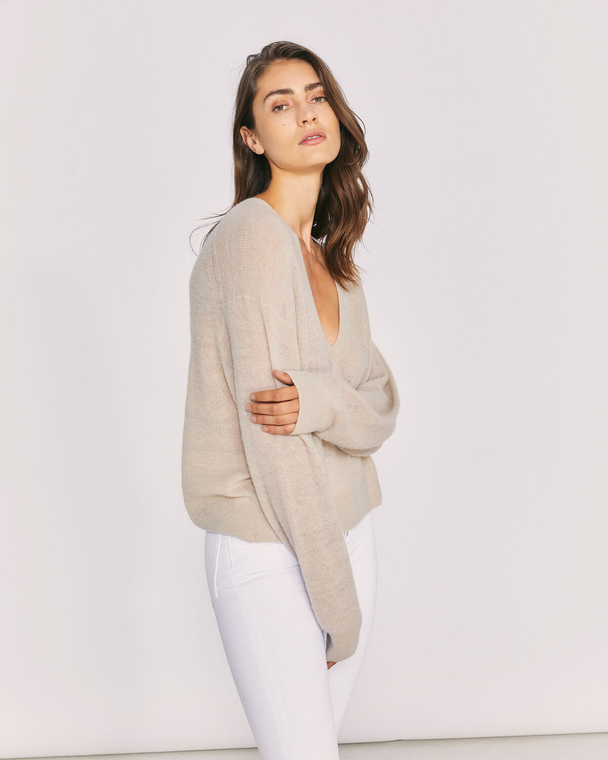 IRO - BALL SWEATER GREY BEIGE