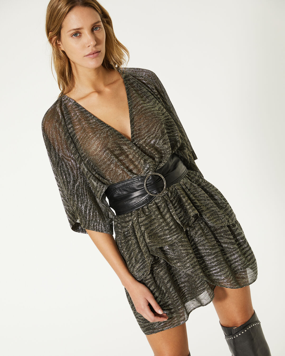 IRO - ROBE WIDE DARK GREY