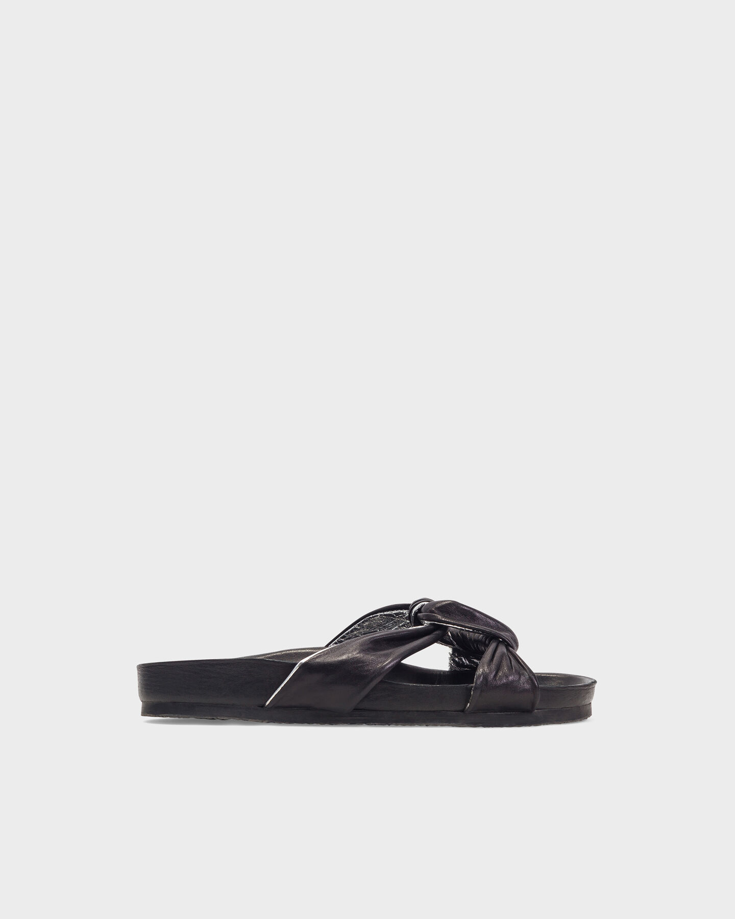 IRO Woman Leather Slides Size 38 DV2ezkvL