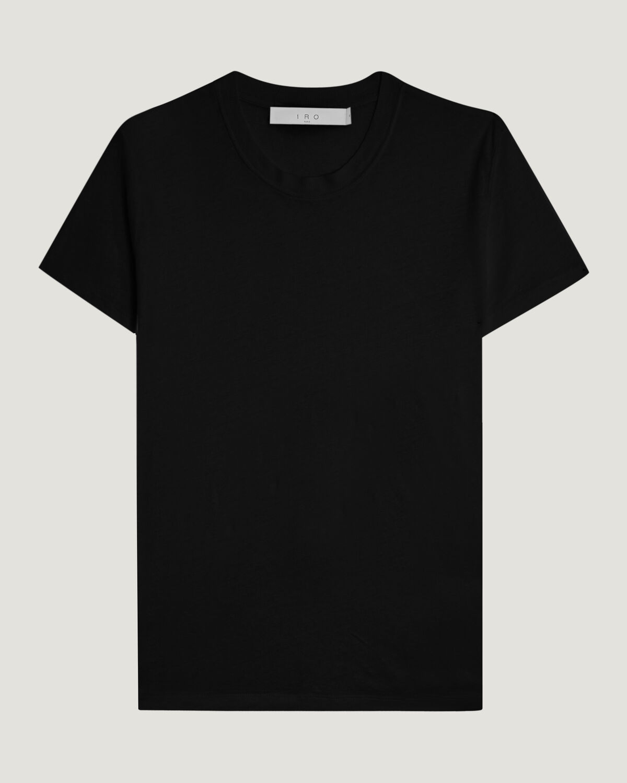 IRO - T-SHIRT COL ROND EN LIN LUCIANA BLACK