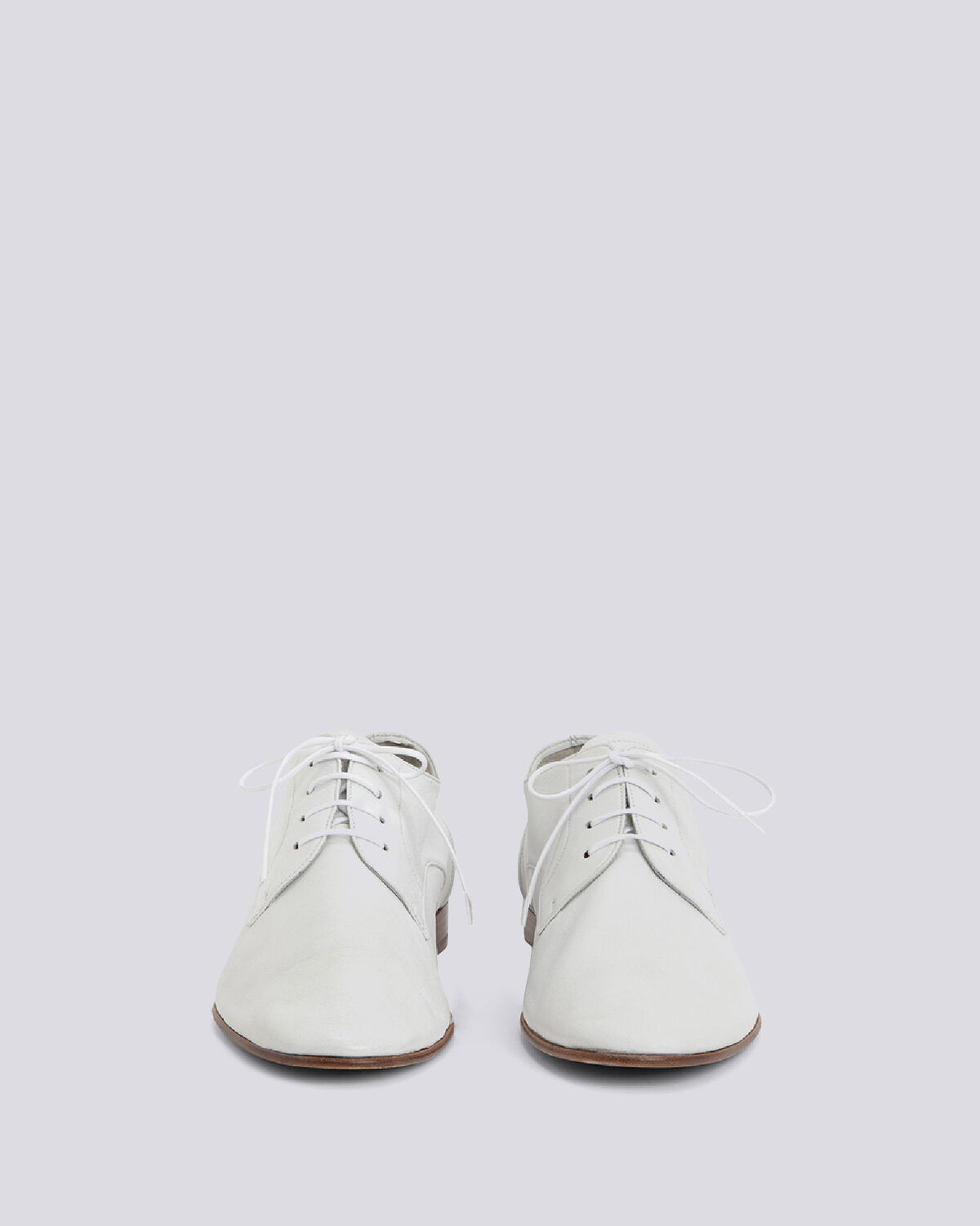 IRO - HARLEY SMOOTH LEATHER LACE UP DERBY WHITE