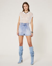 IRO - SHORT LACONI AUTHENTIC BLUE DENIM