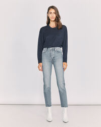 IRO - DEEN HIGH RISE STRAIGHT LEG JEANS BLUE WASHED