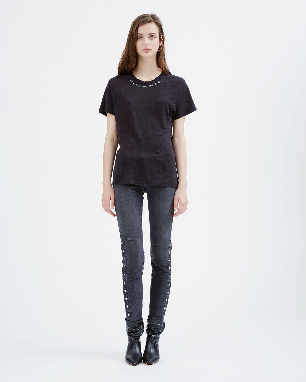 IRO - TALAIS T-SHIRT BLACK/ECRU