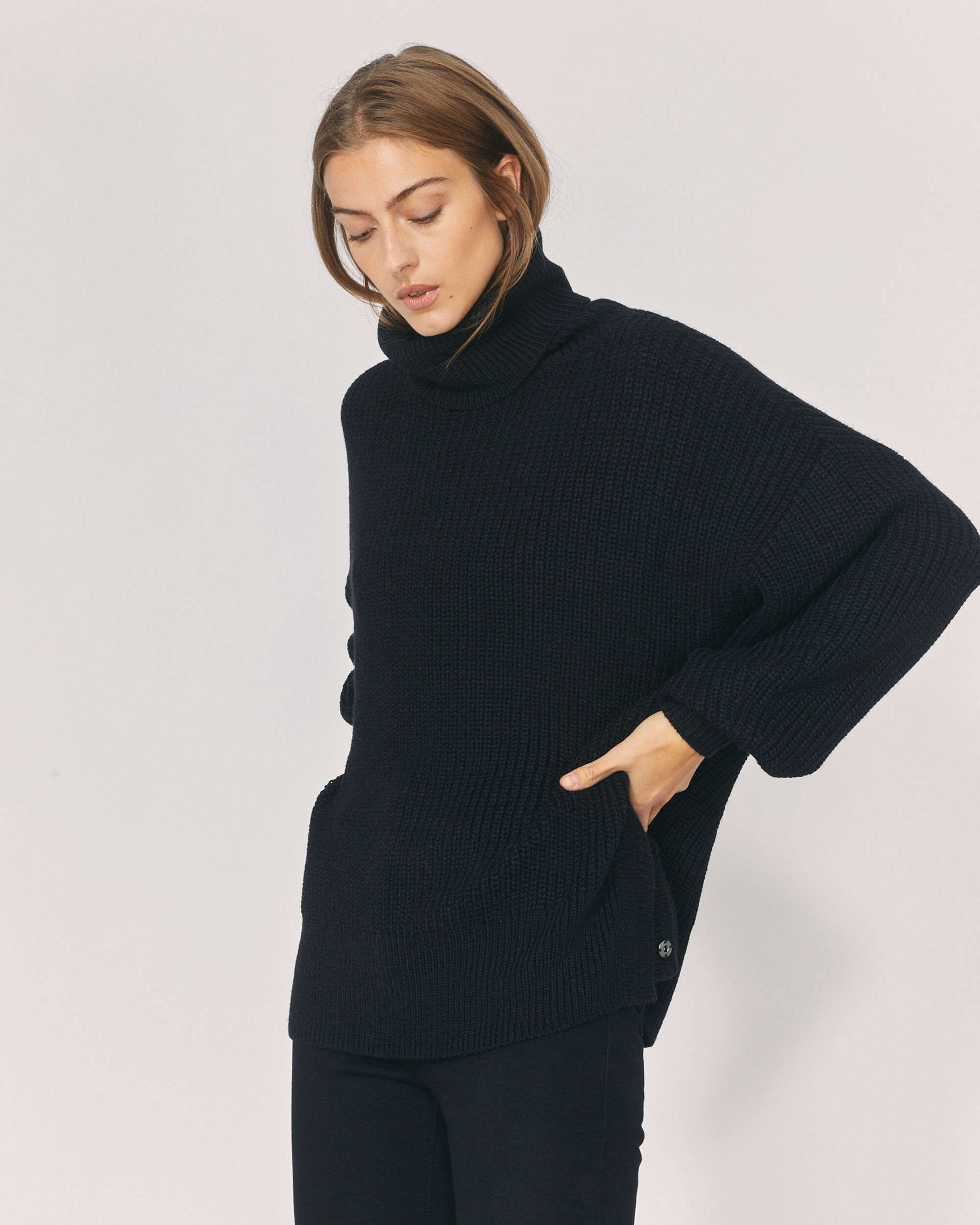 IRO MITSAY SWEATER,BLACK