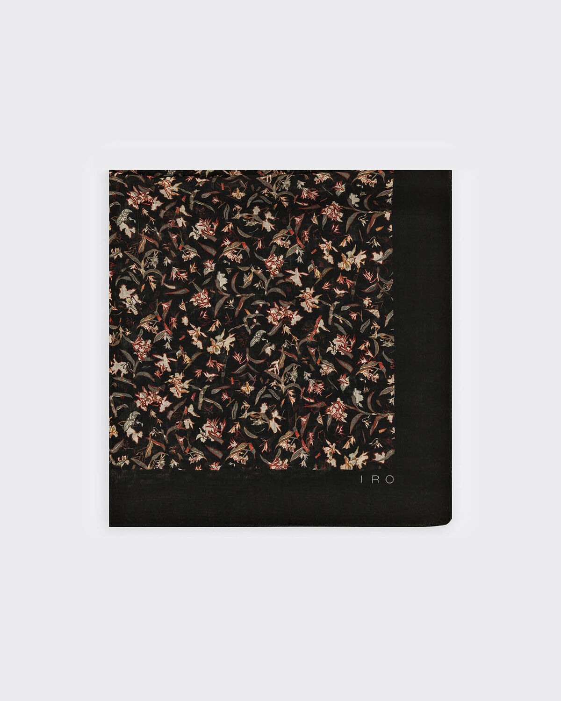 IRO - TEBO SCARF BLACK/GREEN