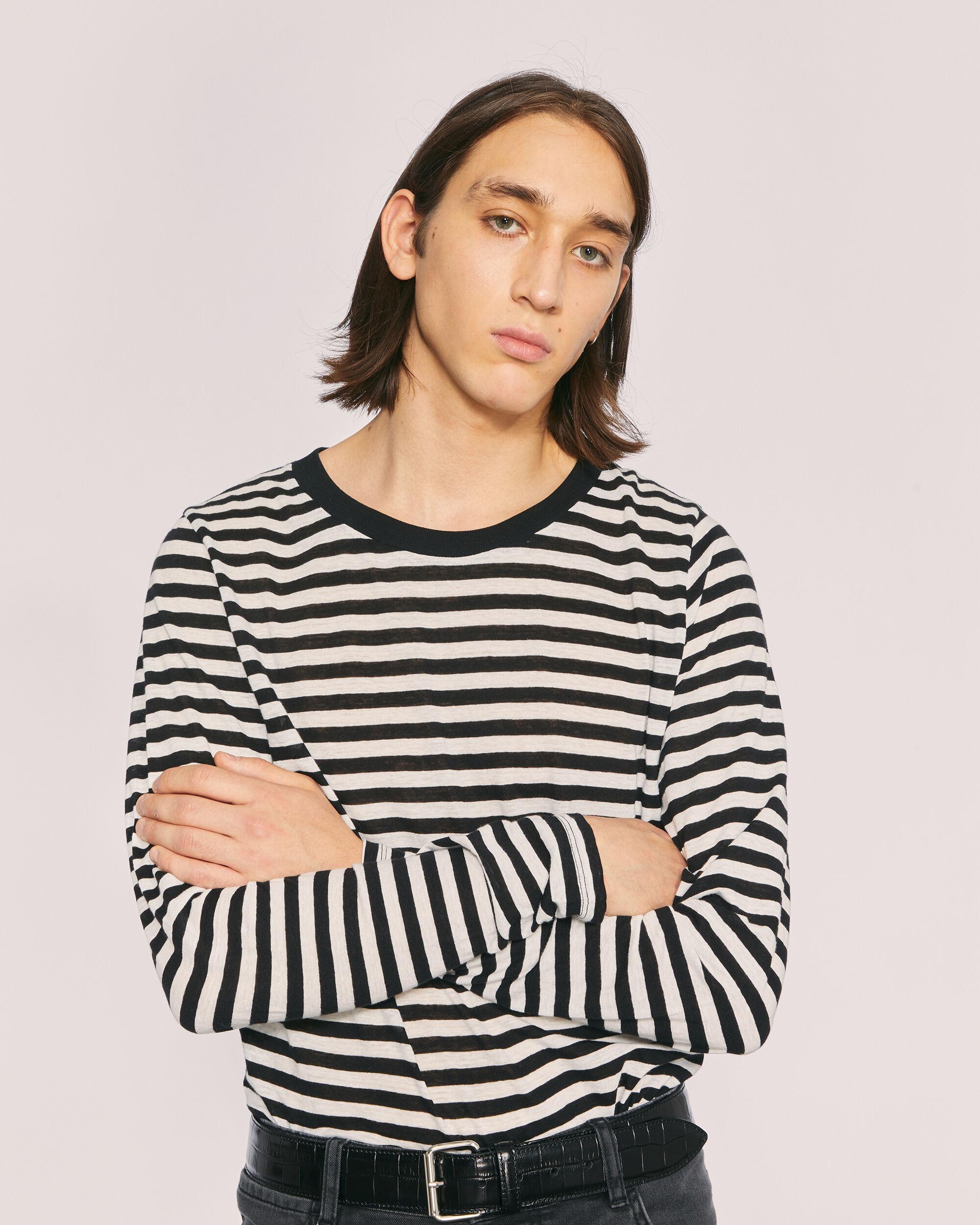 이로 티셔츠 IRO TYBO T-SHIRT,BLACK/WHITE