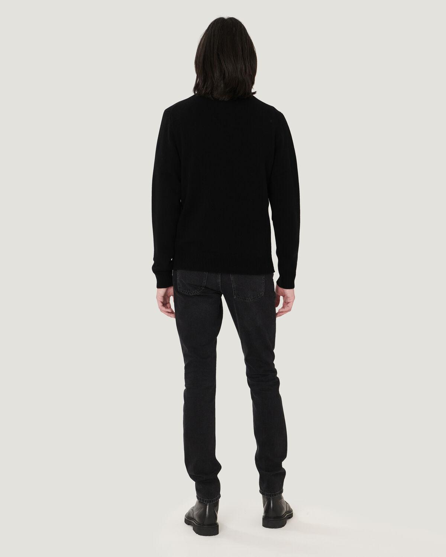 IRO - KADES HALF ZIP MERINO WOOL SWEATER  BLACK