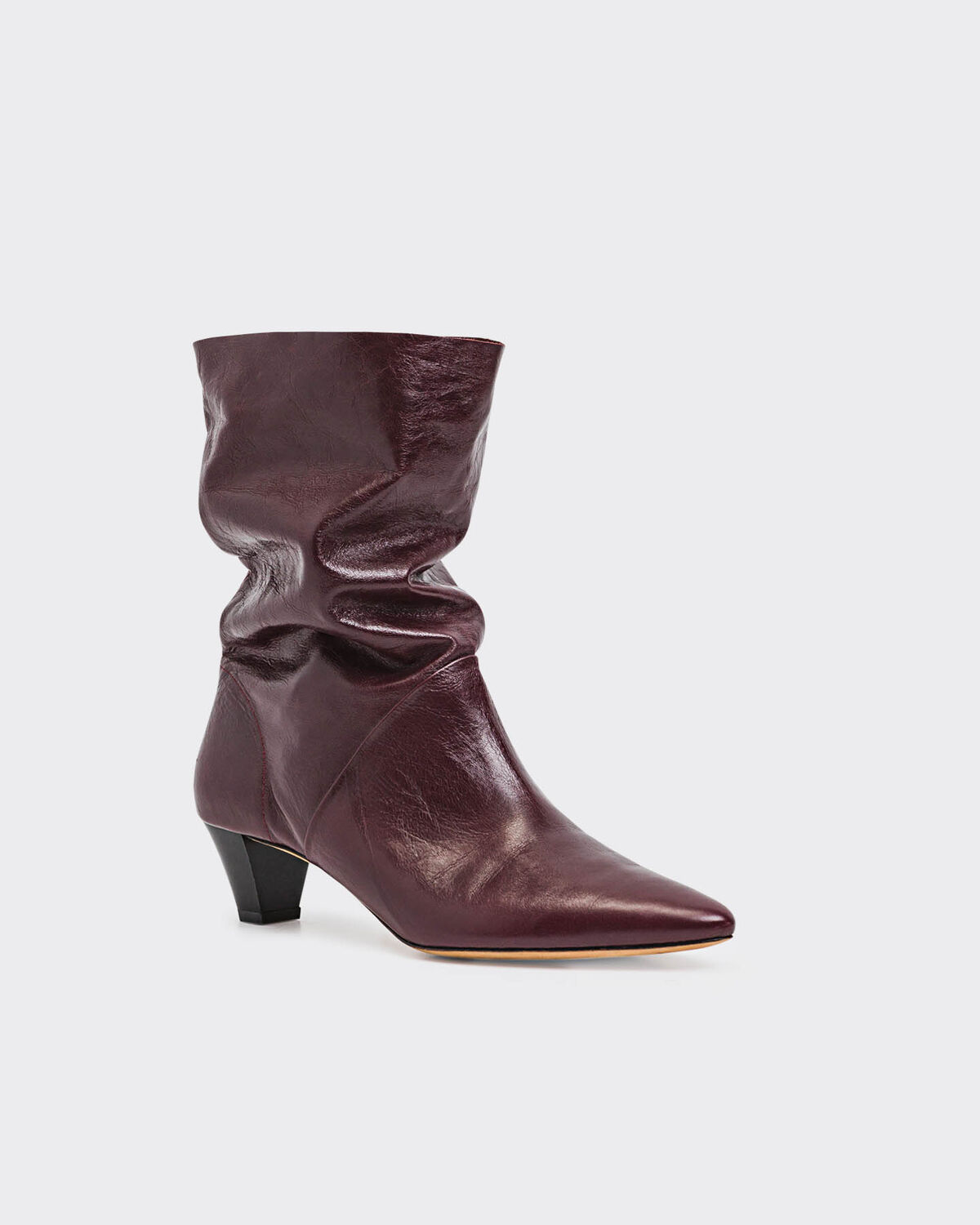 IRO - BOTTINES DRAPITY BURGUNDY