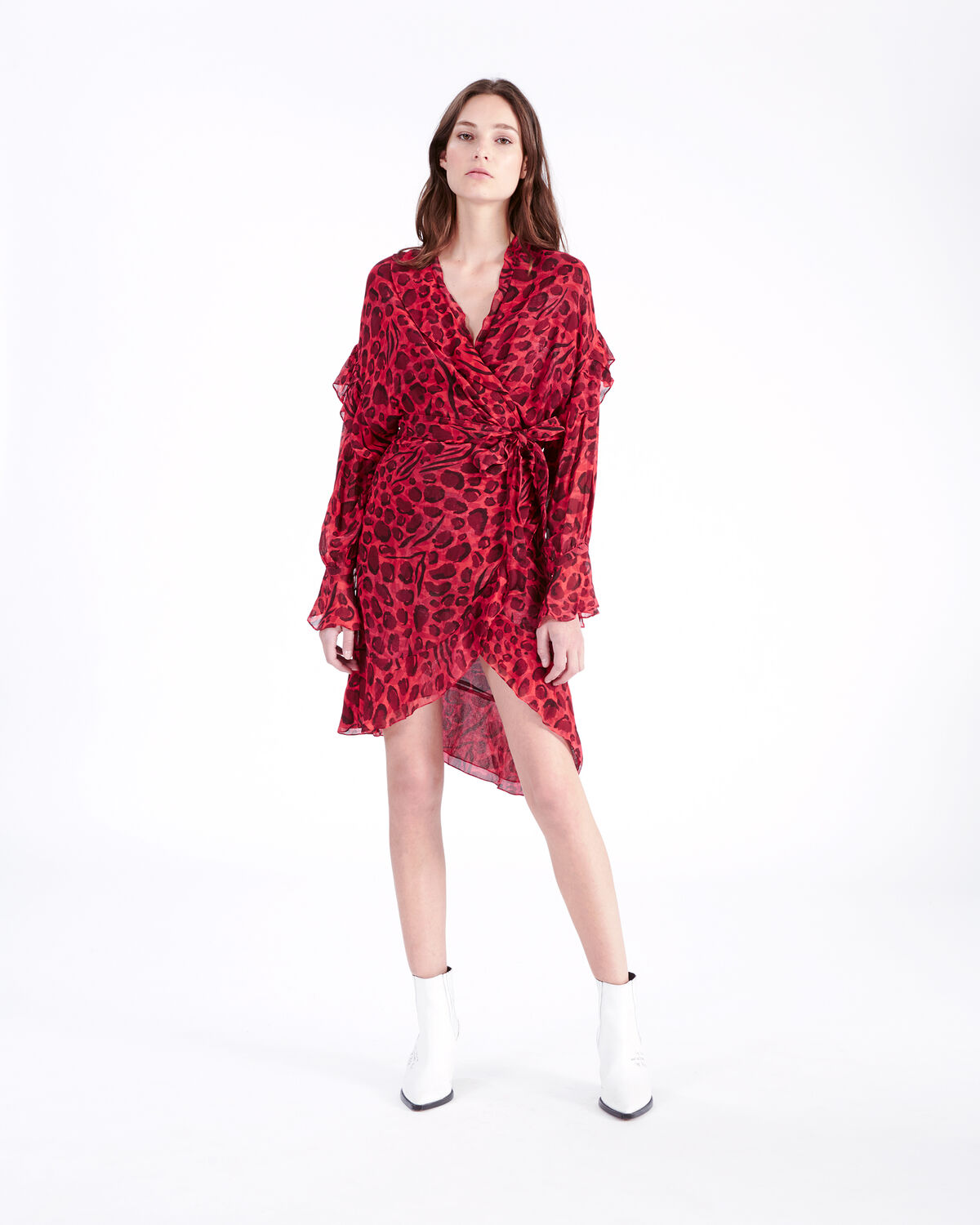 IRO - LINGER DRESS RED