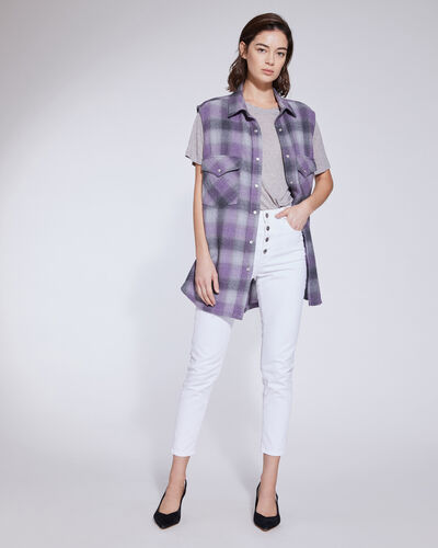 Iro Shirts DONE RELAXED PLAID FLANNEL SLEEVELESS SHIRT