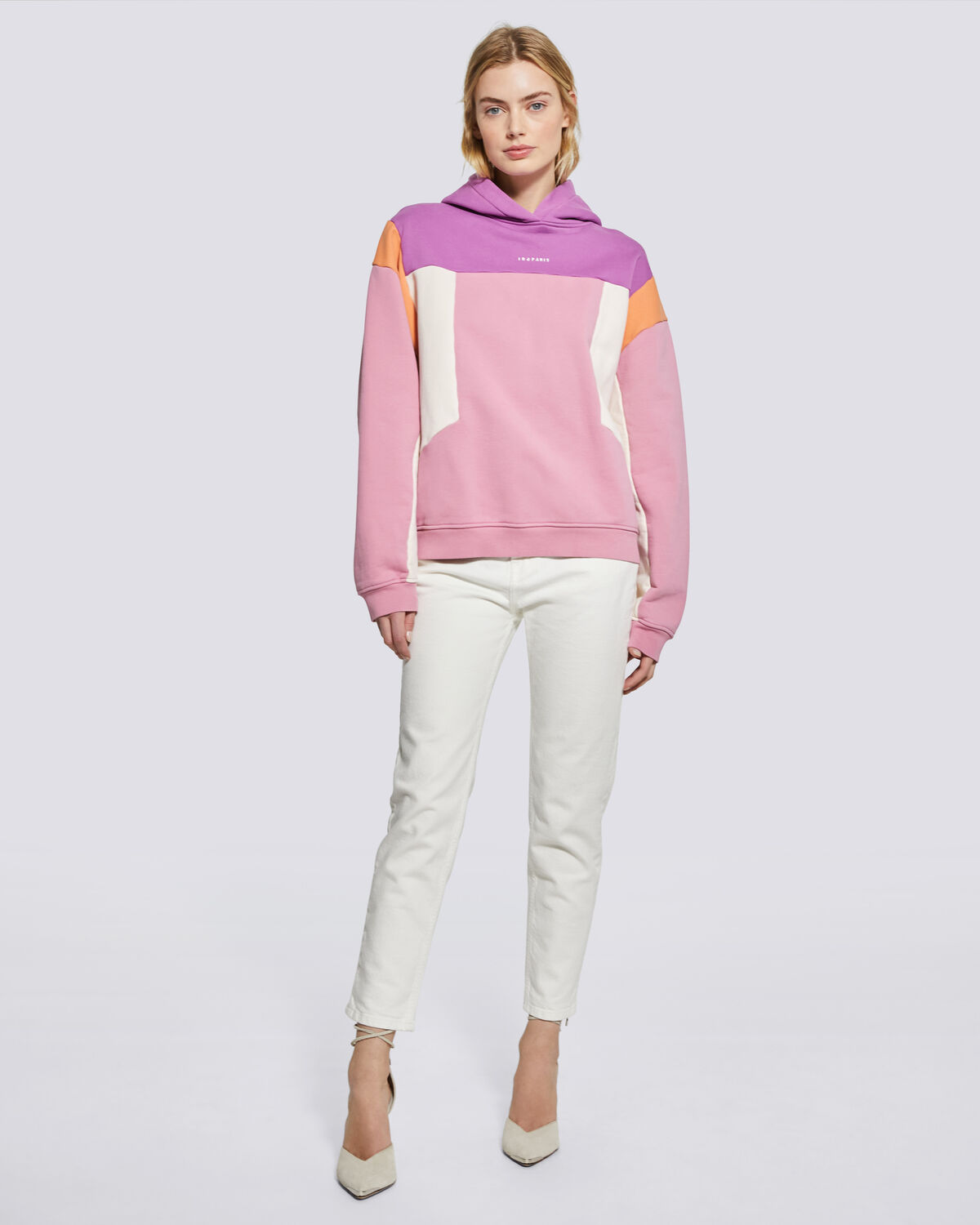 IRO - SUSANE OVERSIZED COLORBLOCK HOODIE  PURPLE/ PINK