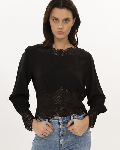 IRO - IVYA TOP BLACK