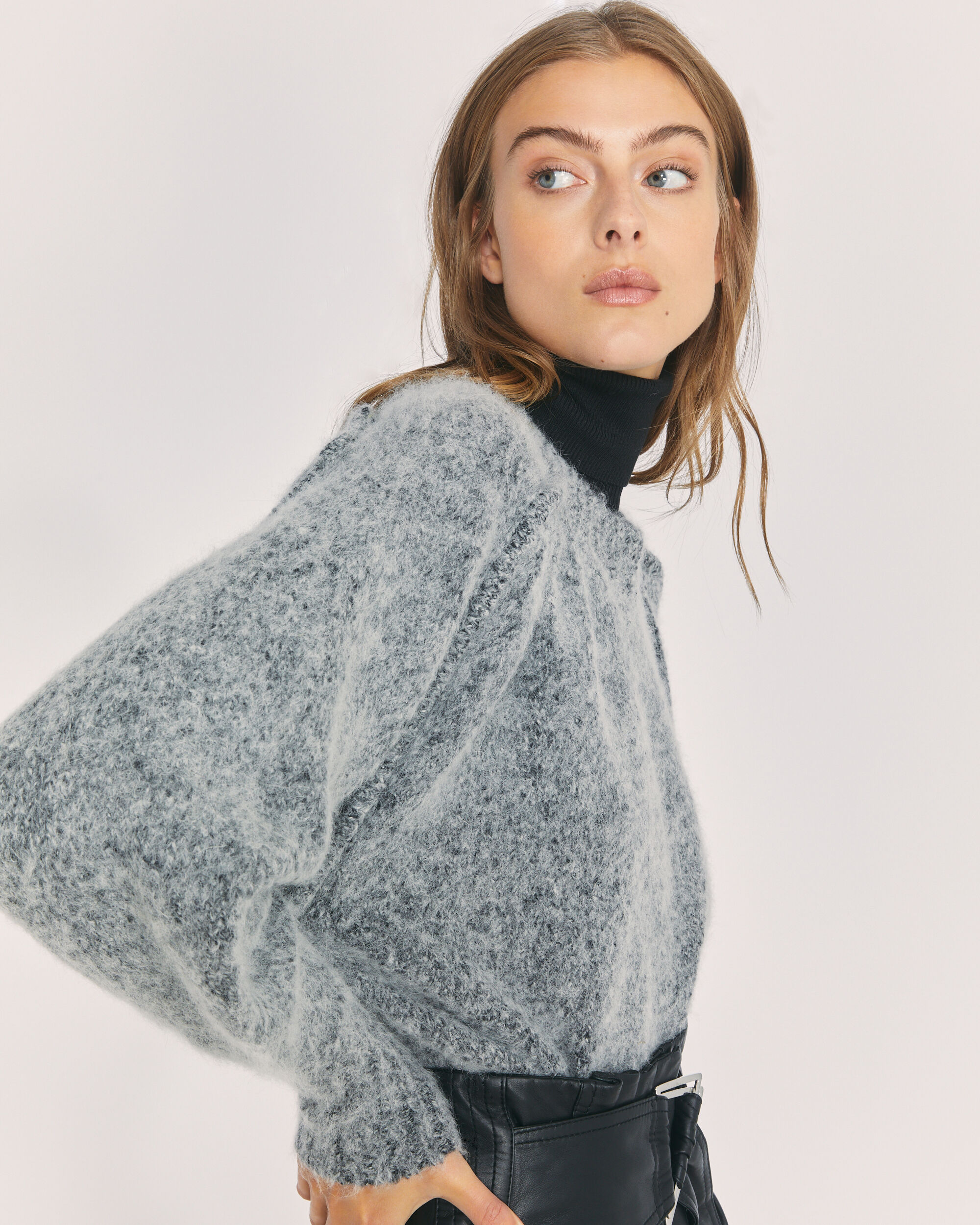 IRO WILORA SWEATER,DARK GREY