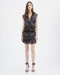 IRO - CAMROSE DRESS BLACK/PINK