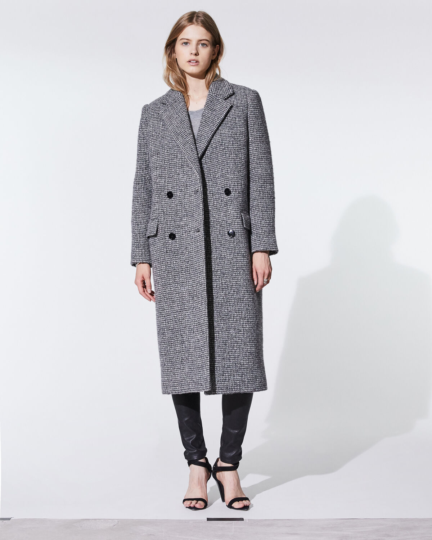 Sikinos Coat Grey And Ecru by IRO Paris