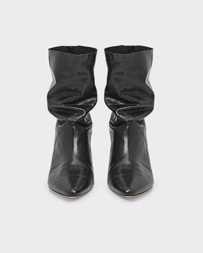 IRO - BOTTINES DRAPITY BLACK