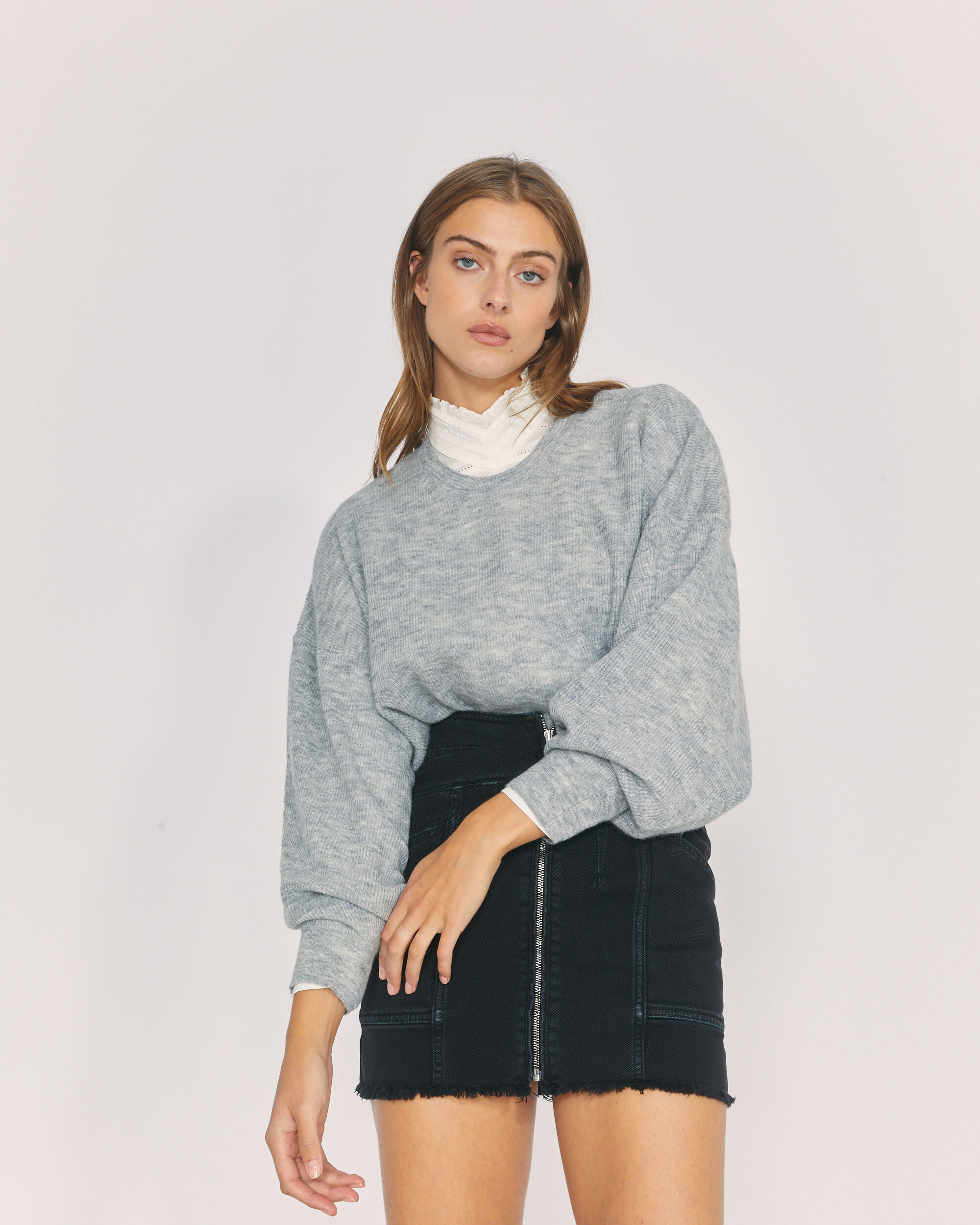 IRO ESCAPE SWEATER,MIXED GREY
