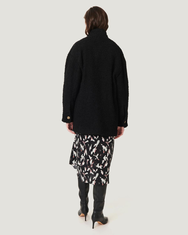 IRO - OKEN HIGH NECK OVERSIZED BUTTON COAT BLACK