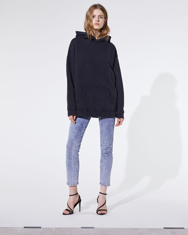Lucky Sweatshirt Used Black by IRO Paris