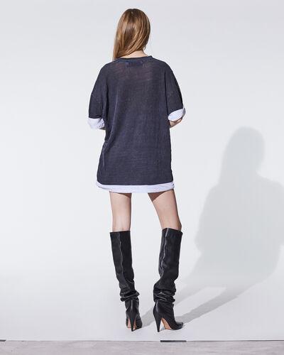 IRO - T-SHIRT AMBOY BLACK/FUSHIA