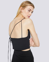 IRO - CROP TOP À FINES BRETELLES LUNE BLACK