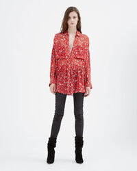 IRO - BLOUSE BEDFORD RED