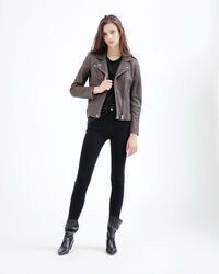 IRO - HAN LEATHER JACKET SMOKE GREY