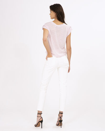 IRO - RUGGED T-SHIRT BLUSH PINK
