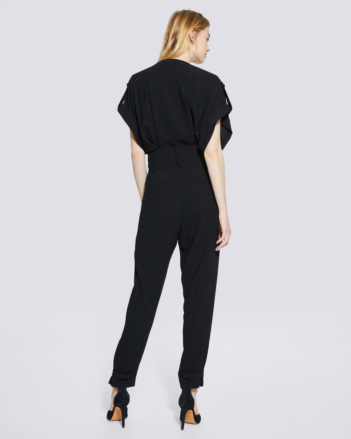 IRO - CASPIAN RELAXED V NECK JUMPSUIT BLACK
