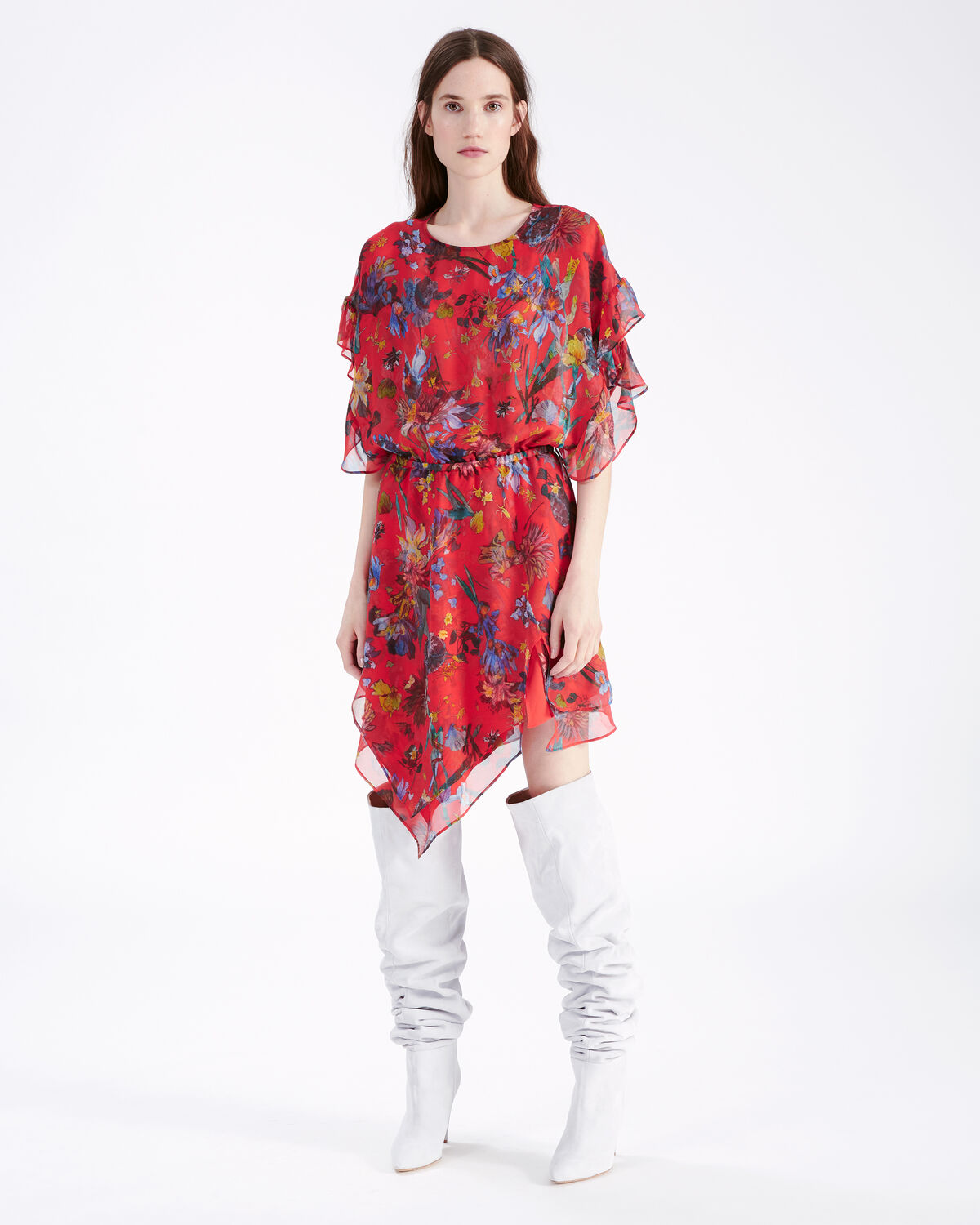 IRO - SUBMARI DRESS RED