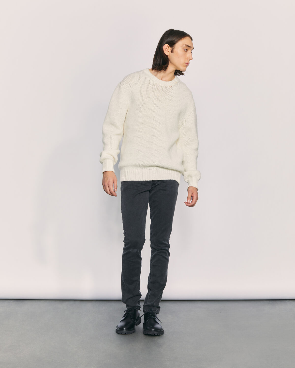 IRO - ROYAL KNIT WOOL SWEATER ECRU
