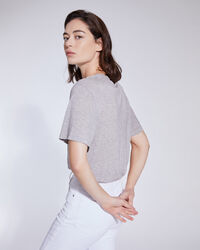 IRO - RASHEL LIGHTWEIGHT CREW NECK T SHIRT MIXED GREY