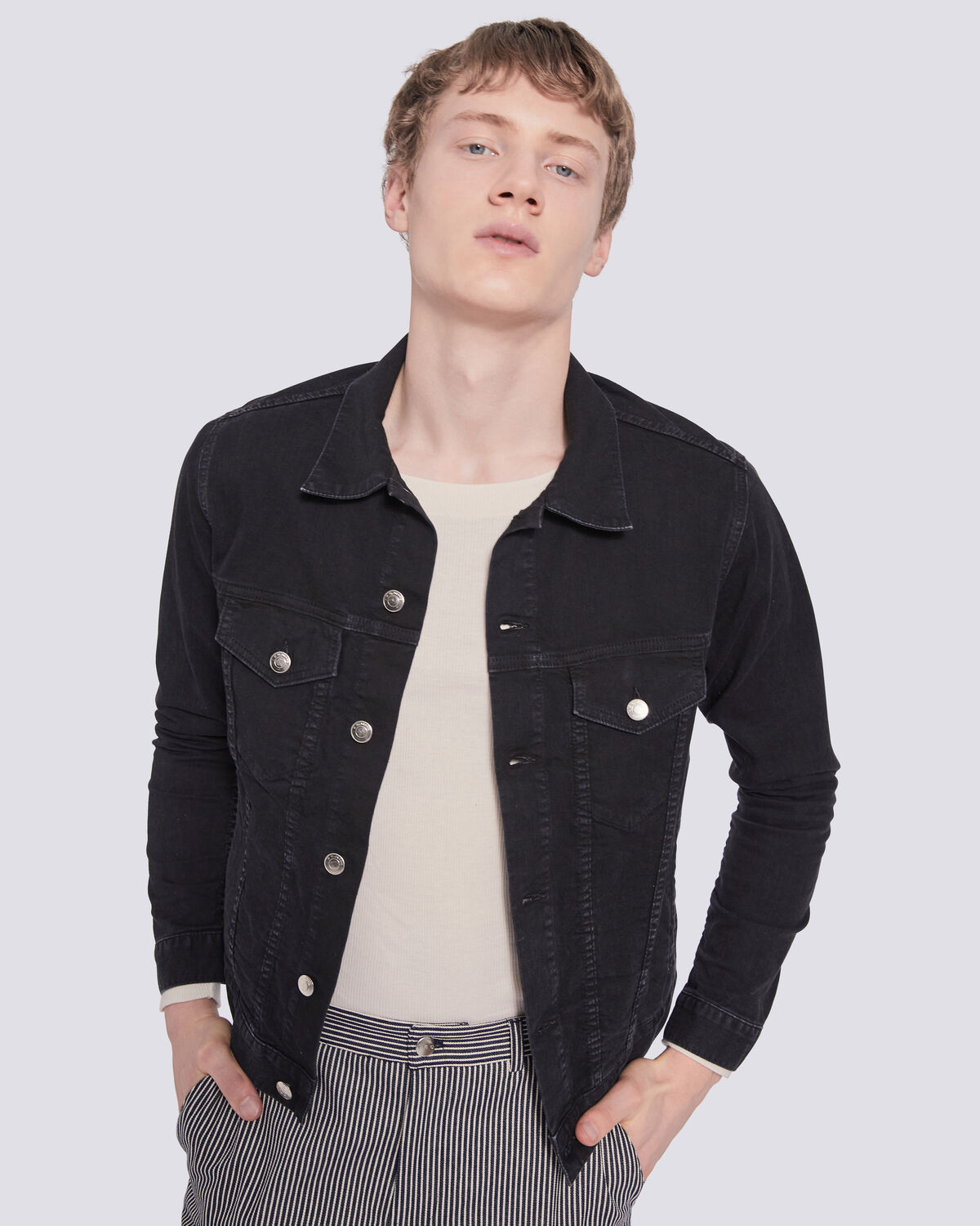 IRO - BOISSY DENIM TRUCKER JACKET BLACK STONE