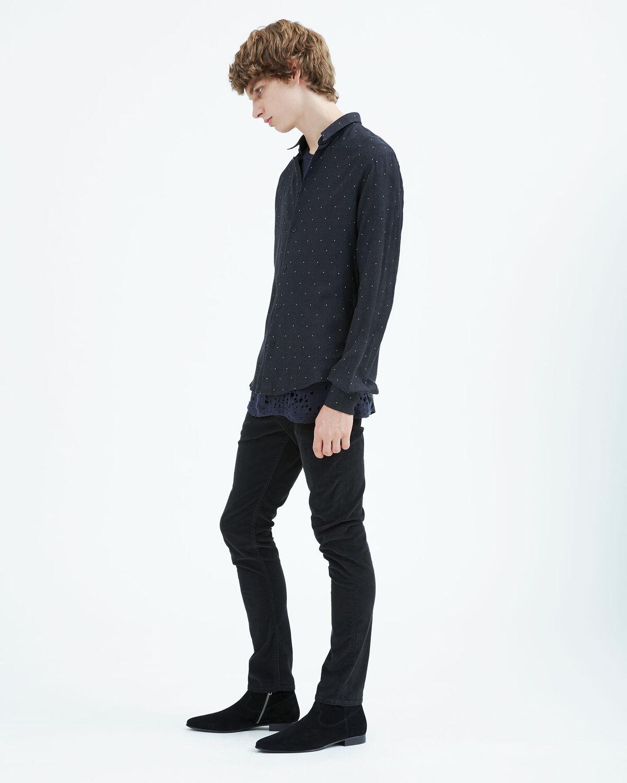 IRO - TERON SHIRT BLACK/WHITE