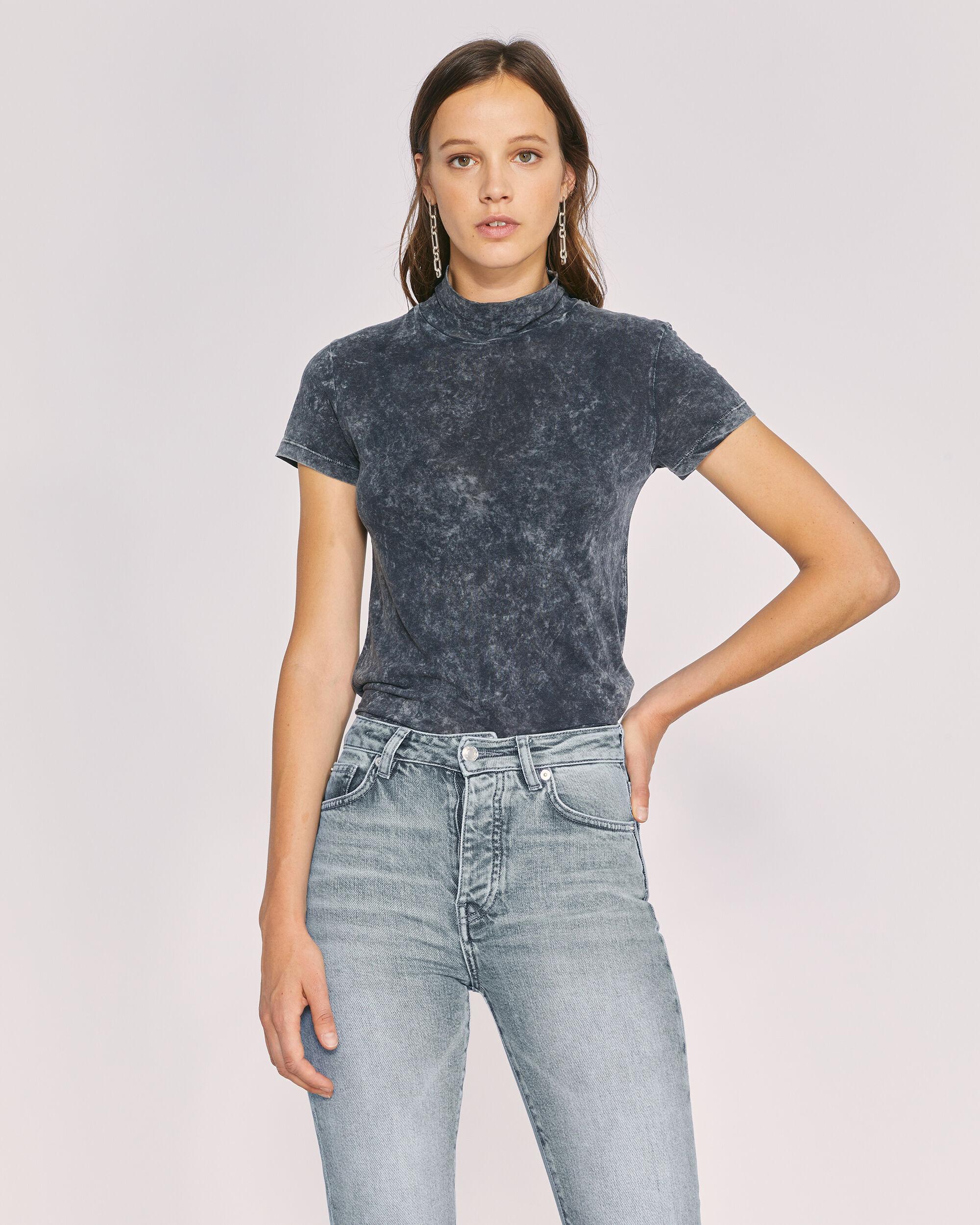 이로 티셔츠 IRO COLYNE T-SHIRT,BLACK/GREY